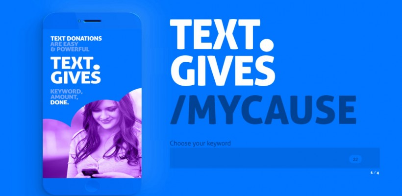 How do I set up a TEXT TO DONATE campaign for my event or