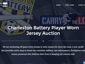 Players give the shirts off their backs for charity using Bidr's mobile auction software